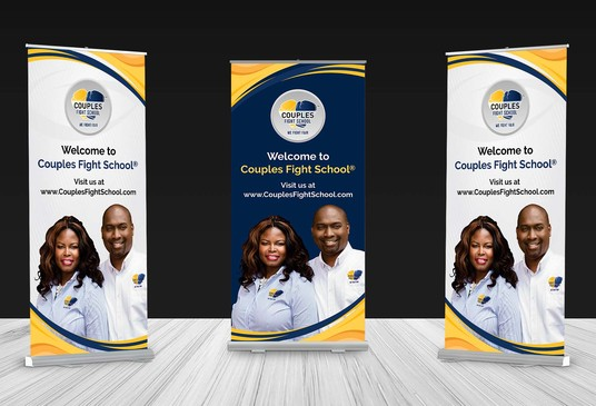I will do a rollup, retractable or pullup banner design
