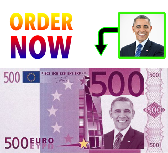 I will put your photo on 500 Euro note  as graphic designer