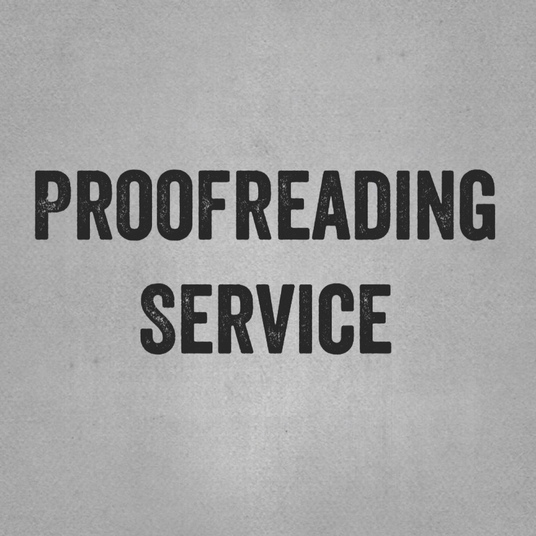 I will proofread your work up to 2,000 words