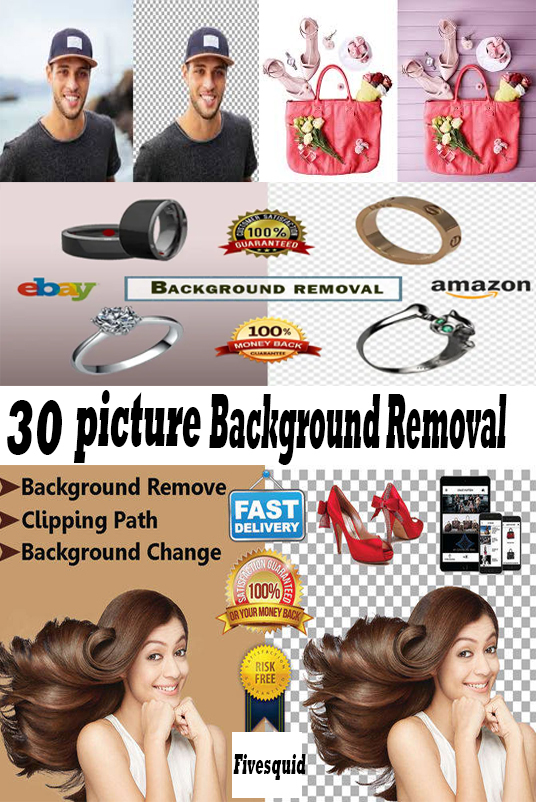I will Do 30 picture background removal