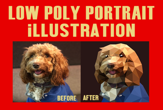 I will do any Low Poly portrait or illustration