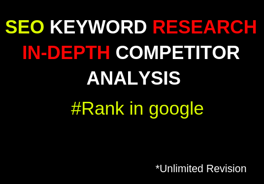 I will do SEO Keyword Research With Competitor Analysis