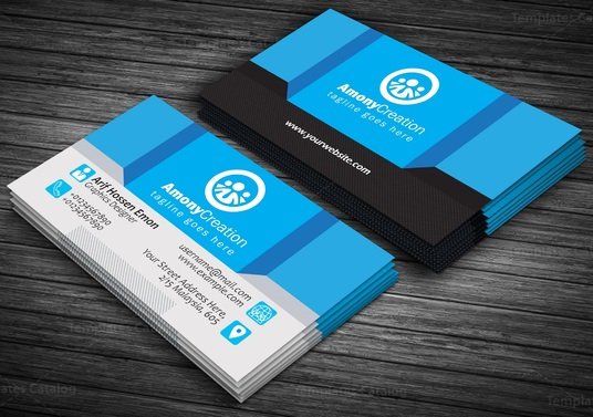 I will do attractive double sided business card design