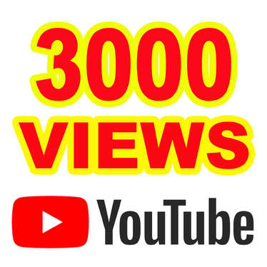 Give you 3000 YouTube Views  A+ Region Country