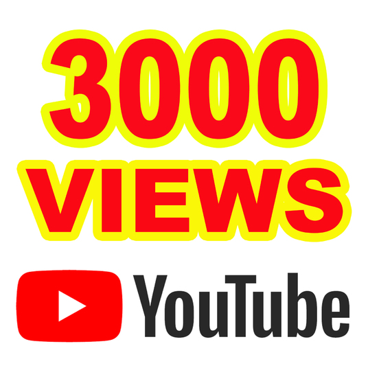 I will Give you 3000 YouTube Views  A+ Region Country