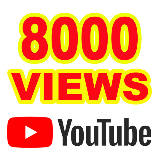 I will Give you 8000 YouTube Views  A+ Region Country