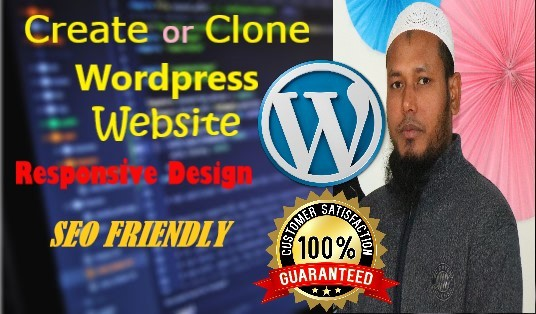I will create or clone any professional WordPress website with ultimate care