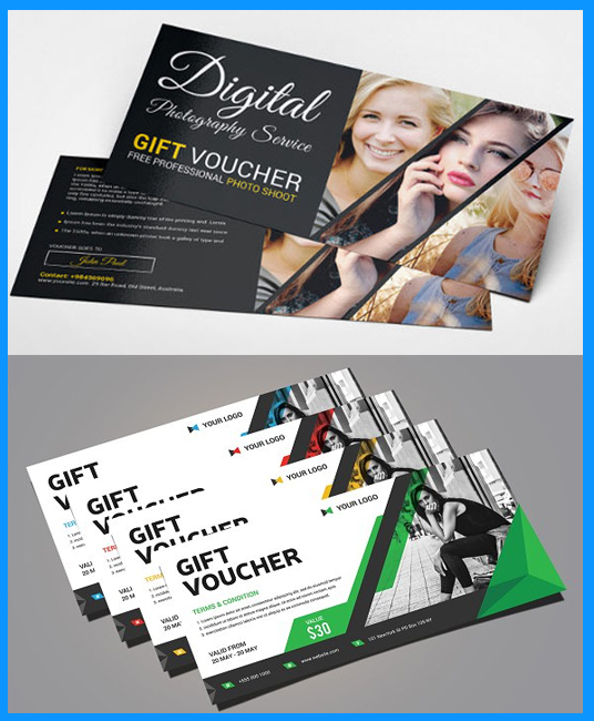 I will Design Gift Vouchers and web banner