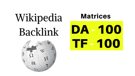Give you a Backlink from Wikipedia - DA100, TF100