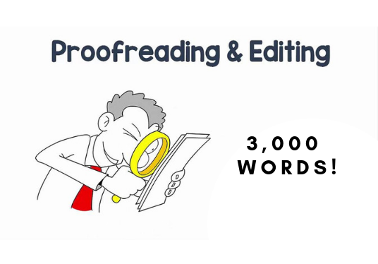 I will Proofread 3000 words for you