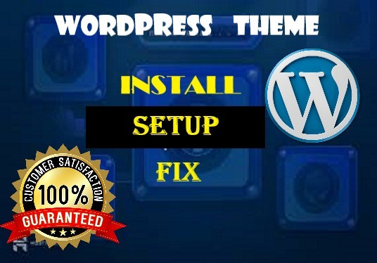 I will Install Wordpress  Theme and Setup properly