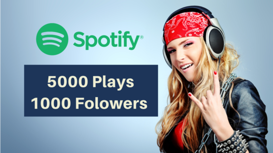 I will add 1000 Spotify followers & 5000 Spotify Plays