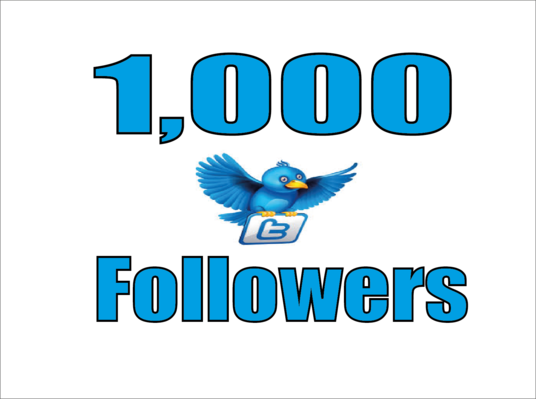 I will Give Real 1,000 Twitter Followers
