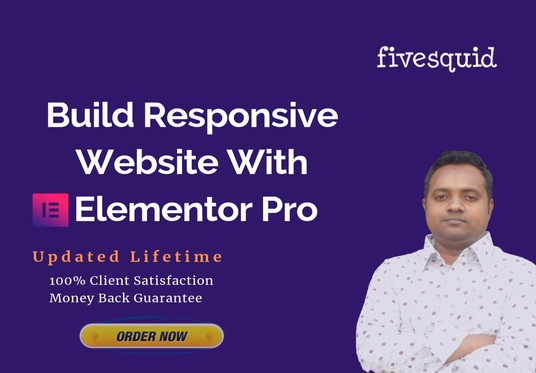 I will build professional wordpress website by using Elementor Pro