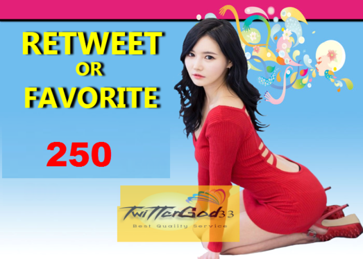 give You 250 Retweets or Favourites