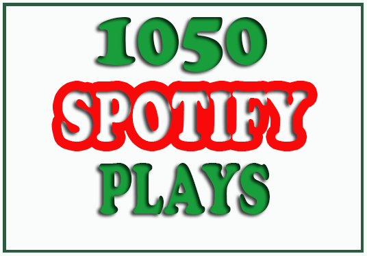 I will Give  You Guaranteed 1050 Spotify Plays
