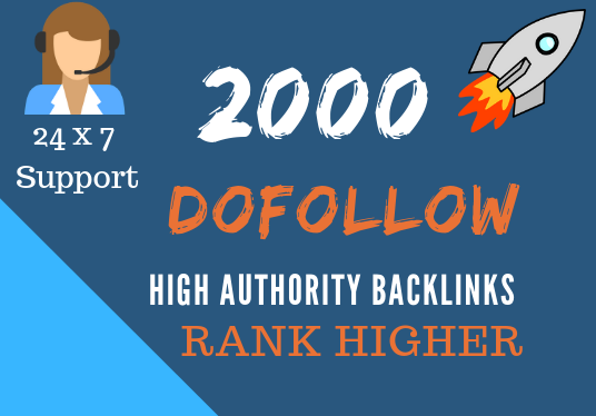 I will Create 2000 Dofollow Backlinks For Top Ranking In Google