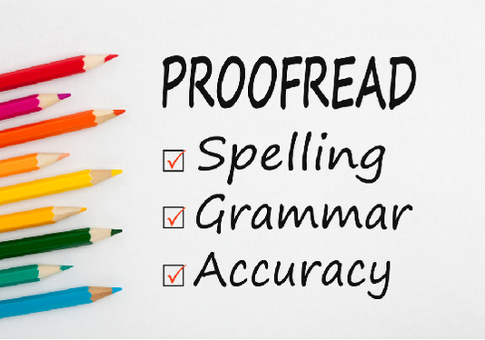 do proofreading and editing diligently