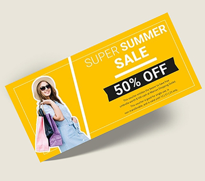design outstanding Voucher, Coupon, Gift Card, Flyer or Ticket designs as graphic designer