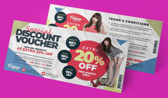 I will design a beautiful Gift Voucher, Event Ticket, Coupon or Pop-up Page