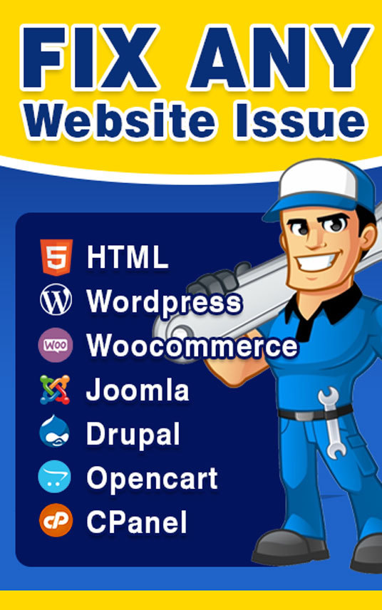 I will fix any website related issues