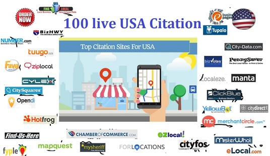 I will Do 100 Live Usa Local Seo Citation