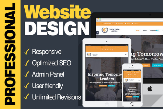I will design a website for your business