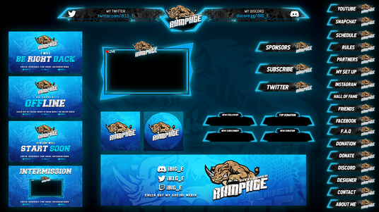 Design your twitch overlay for £10 : tahamid - fivesquid