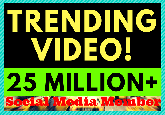 I will Do Trending Video And Youtube Viral Promotion