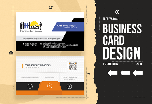 I will  design outstanding 2sided business card in 24 hrs