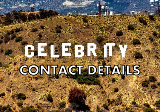 I will give you contact details for almost ANY celebrity