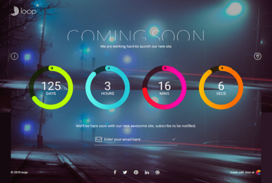 I will Create Responsive Coming Soon Page With Countdown Timer