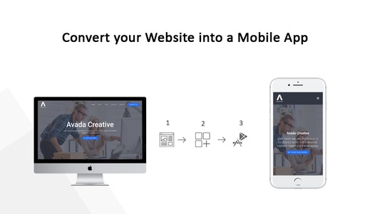 convert your website into a Mobile app in 1 day