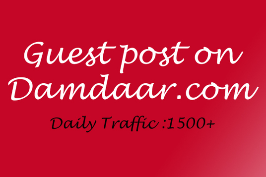 I will Publish a Guest post on high Traffic blog