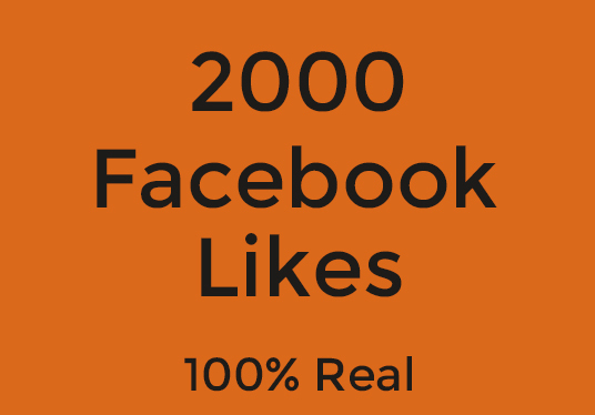 I will Provide You 2K 100% Real Facebook Likes