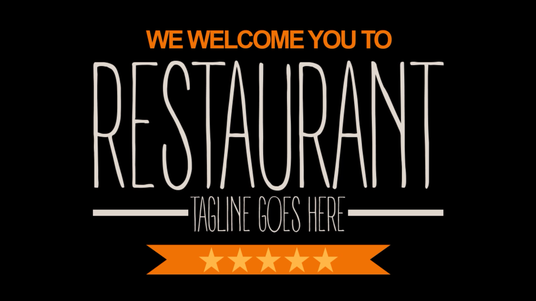 add your food menu to a predesigned restaurant takeaway catering promotional video