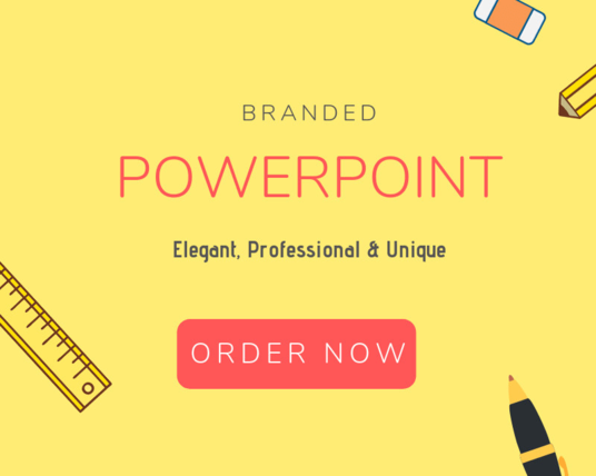 I will Create Branded Powerpoint Presentation