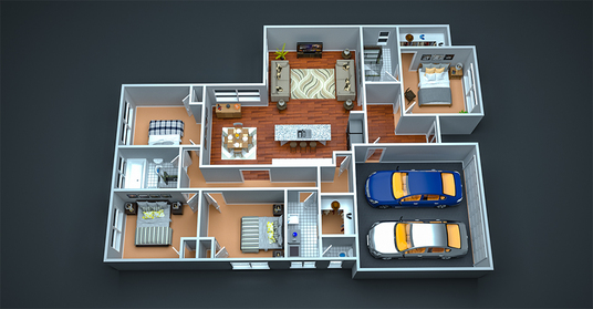 I will convert 2d floor plans to 3d