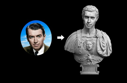 I will Make an Amazing Roman Or Greek Statue fro your photo