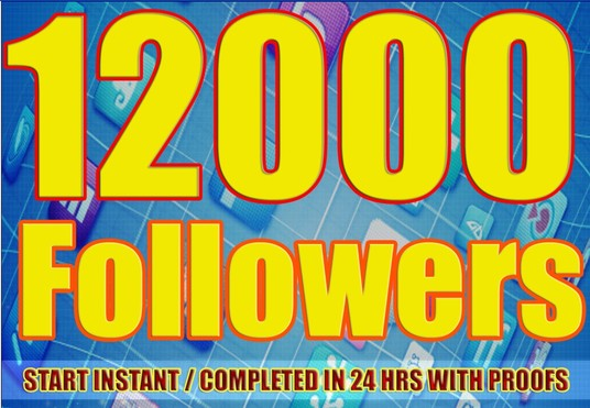 I will provide 12,000 Facebook Real and Active Followers