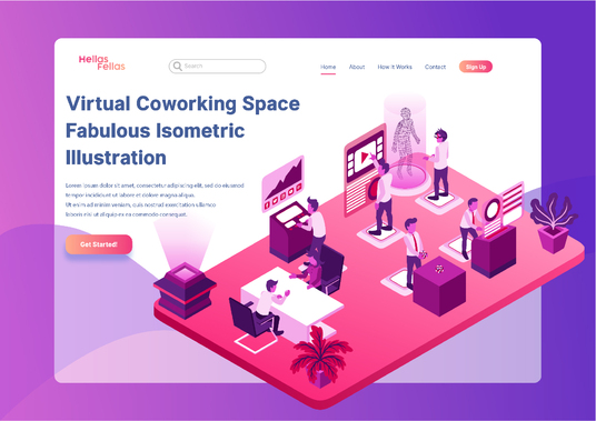 I will create amazing isometric vector illustration