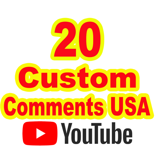 I will give you 20 YouTube Custom Comments USA HQ