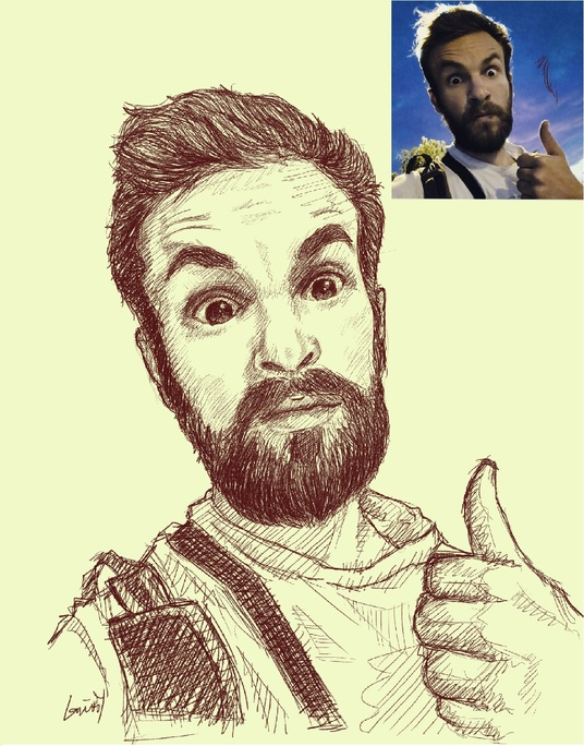 I will draw a sketch art of your face
