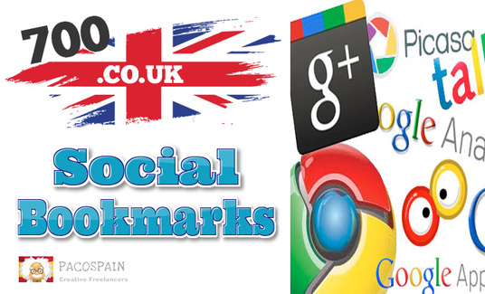 I will create 700 High Quality .CO.UK Social Bookmark Links 0r 1000 mixed