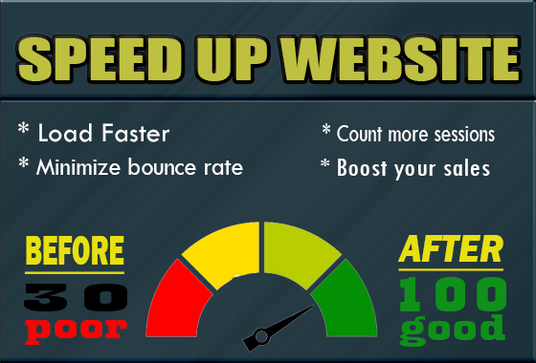 I will speed up your web pages with gtmetrix , google page speed, pingdom