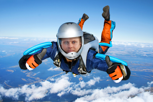 I will make you a Skydiver diving from Sky