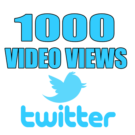I will add 1000 Twitter Video Views