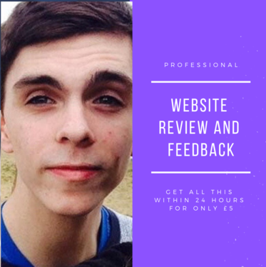 review and give feedback on your website