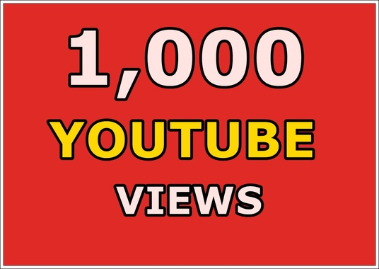 I will give you Guaranteed 1000 Real Human YouTube views and 10 likes  to your Video, fast delive