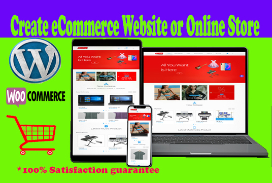 I will Create Your Wordpress E-commerce Website Or Online Store